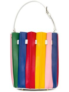 05ebfd968c2 Sara Battaglia  Plissé Bucket  bag Fringe Handbags