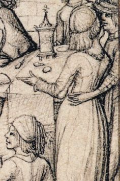 detail from 'Sol und seine Kinder' Housebook Master, last quarter 15th century, South Germany (Rijksmuseum Amsterdam)