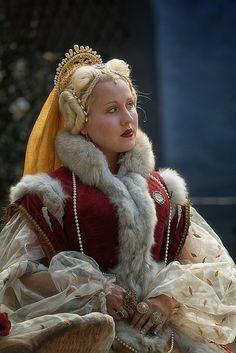 Louisiana Renaissance Fair 2012 - what are those bumps on her head? strange. beautiful costume though.