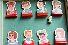 My Vintage Whimsy via Meet Me at Mikes: pics of vintage board games galore
