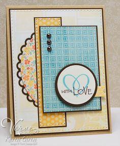 Card by Karen Giron using Verve Stamps.  #vervestamps