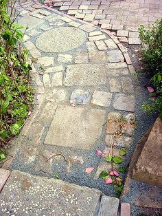 Path made from recycled materials - my house | by pete@eastbaywilds.com