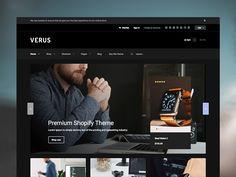 Verus - Electronics Theme | Shopify by limonija #shopify #theme #web #ui #ecommerce #store #themeforest #shopifytheme