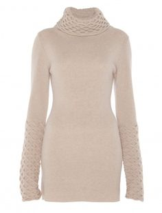 classic Temperley London Honeycomb Tunic.  wide polo neck in this seasonal favourite.  Fabric Composition: 100% Lambswool