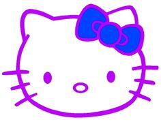 This is a super cute purple Hello Kitty with a blue bow.  ;)