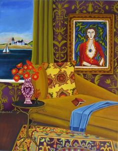 Summer Reading, painting by artist Catherine Nolin