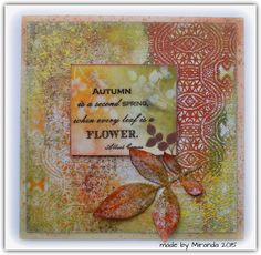'Mir'acle Art Inspirations: Another Autumn creation.....