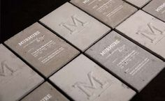 210 best stand out business cards images on pinterest business french creative agency murmure debuts concrete business cards businesscards trendhunter reheart Images