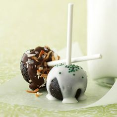 Holiday Chocolate Bonbon Pops From Better Homes and Gardens, ideas and improvement projects for your home and garden plus recipes and entertaining ideas.