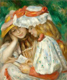 Renoir,  Two reading girls