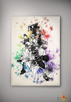 Kingdom Hearts Gift Watercolor illustrations Art Print Wall Art Poster Giclee Wall Decor Art Home Decor Wall Hanging Modern Geek Multi Size on Etsy, 31,37 zł