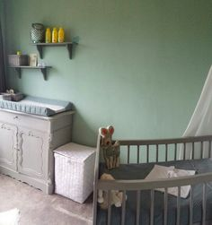 Babykamer groen biedermeier paris grey