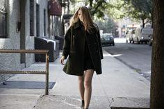 LOOKAST CHAPTER #5 - 2014 fall winter in New York_ Green oversized zipper detailed coat