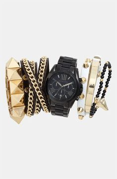 Try an edgy stacked wrist.