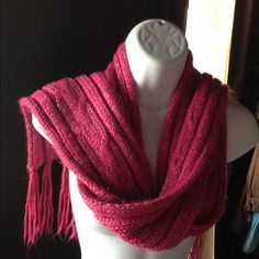 Pink Scarf with a bit of Sparkle! Long pink scarf with just enough sparkle. Accessories Scarves & Wraps