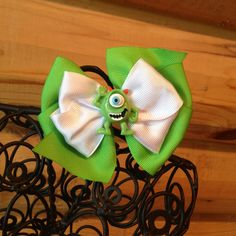 Mike Wazowski Monsters Inc hair bow by MegansHairCandy on Etsy, $5.00