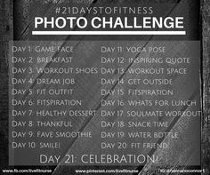 daily motivation for 21 days - follow along on my 21 day challenge board, motivate me board, clean eating board, and fitness board for daily photo challenge, 21 day fix recipe, and workout move of the day!!