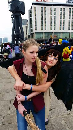 Fem Castiel & Fem Dean Winchester cosplay  London MCM Expo May 23rd 2015
