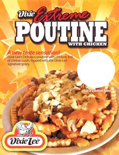 Dixie Lee - Poutine Dixie Lee, Cheese Curds, Poutine, Gravy, Oatmeal, Chicken, Breakfast, Projects, Food