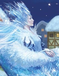 Puppet show «the snow Queen Snow Queen, Ice Queen, Christmas Pictures, Christmas Art, Snow Elf, Winter Fairy, Beautiful Fantasy Art, Fantasy Paintings, Fantasy Creatures
