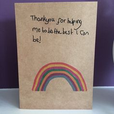 Inspirational Teacher Thank You card, Appreciation Rainbow Card As a Teaching Assistant I know how important teachers are and how children look up to them Teachers Day Card, Teacher Thank You Cards, Thank You Cards From Kids, Happy Teachers Day, Your Teacher, Teacher Appreciation Cards, Rainbow Card, Teacher Inspiration, Teachers' Day