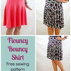 Free skirt pattern - The Flouncy Bouncy Skirt