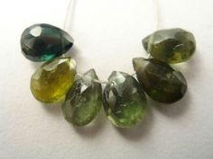 Multi Tourmaline Faceted Pear (Quality B) / 4.5x6.5 to 5x6.5 mm / 4.5 carats / 6 pieces / ST-2853 by beadsofgemstone on Etsy