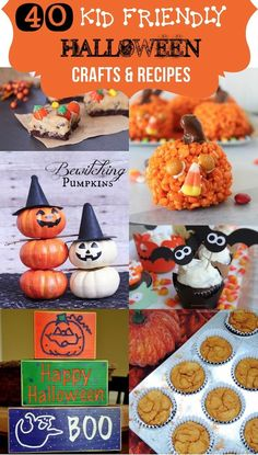 40 KID FRIENDLY Halloween crafts and recipes! (halloween, theme, ideas, inspiration, decor, decoration, home, house, garden, party, scary, spooky, crafts, do it yourself, DIY, easy, cheap)