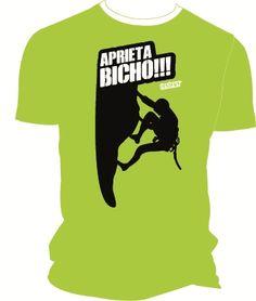 Camiseta técnica lima aprieta bicho escalador para escaladores. #escaladores #bloqueros #camisetas #tees