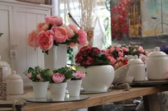 Decor casa a tema rosa.