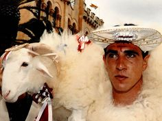 "Man with a Lamp at Festival from ""Festes De Sant Joan In Ciutadella De Menorca."""