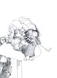 Ralph Steadman | Alice in Wonderland | The Caterpillar
