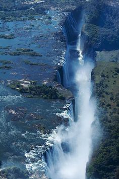 The mighty Victoria Falls of the Zambezi River, Africa -- I want to see these for myself someday!