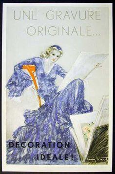 Une Gravure Originale Painting by Louis Icart