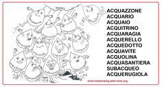 Risultati immagini per le parole della famiglia acqua scuola primaria