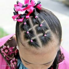 6 side squares with a side ponytail - Toddler Hair Dos, Easy Toddler Hairstyles, Cute Little Girl Hairstyles, Baby Girl Hairstyles, Kids Braided Hairstyles, Wedding Hairstyles, Braided Updo, Haircut Styles For Women, Short Haircut Styles