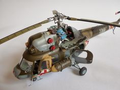 "Mil Mi-2 ""Hoplite"", AEROPLAST 1/48 scale. By Sławekb. Polish Air Force. #scale_model #helicopter #chopper #aircraft #vignette #diorama"