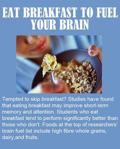 Eat #Breakfast to fuel your Brain
