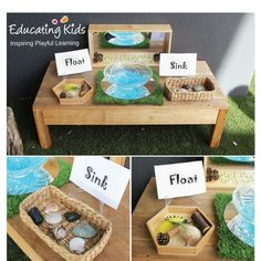 result for water table provocations Science Area, Science For Kids, Science Activities, Educational Activities, Mad Science, Play Based Learning, Learning Centers, Early Learning, Montessori