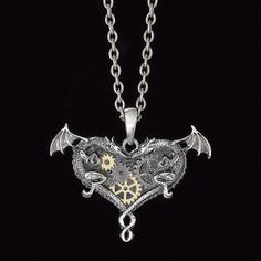Steampunk Dragons Necklace - Women's Clothing & Symbolic Jewelry – Sexy, Fantasy, Romantic Fashions