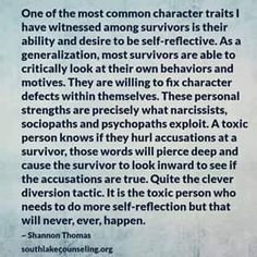 How I know I'm not a narcissist.I have empathy and I self reflect. I admit my mistakes. I've thought about this for many many years now . I'm not a narcissist like he claims.it's called projection what he does. Narcissistic Mother, Narcissistic Behavior, Narcissistic Abuse Recovery, Narcissistic Personality Disorder, Narcissistic Sociopath, Sociopath Traits, Narcissistic Children, Narcissistic People, Verbal Abuse