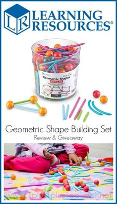 Learning Resources Geometric Shape Building Set Review and Giveaway from @{1plus1plus1} Carisa {giveaway ends 4/30/14}