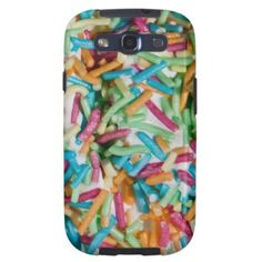 Sprinkles Galaxy S3 Covers #icecream #summer #candy Available at http://www.zazzle.com/sprinkles_galaxy_s3_covers-179249313900067221?rf=238464442738264151