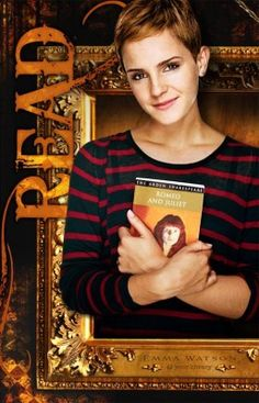 Emma Watson in the American Library Association's READ campaign - Reading,libraries, books and spaces - Celebrities Reading Emma Watson, Library Posters, Reading Posters, Library Themes, Library Design, Reading Quotes, I Love Books, Good Books, Books To Read