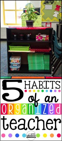 From one OCD teacher to another....5 rules for staying organized in the classroom this year!