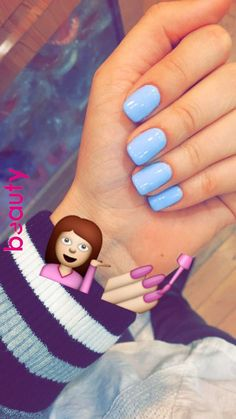 What manicure for what kind of nails? - My Nails Blue Gel Nails, Cute Acrylic Nails, Acrylic Nail Designs, Gel Polish Designs, White Nails, Uñas Fashion, French Fashion, Fashion Ideas, Dipped Nails