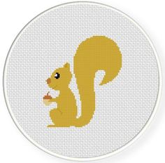 (10) Name: 'Embroidery : Squirrel Cross Stitch Pattern