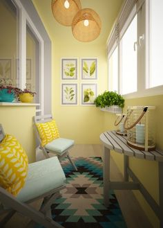 A small balcony does not mean that it is a useless space, this space is the only place to enjoy the outside world. Small Balcony Design, Small House Interior Design, Indian Home Decor, Diy Home Decor, Indian Interiors, Porches, Living Room Decor, Decoration, Cozy Corner