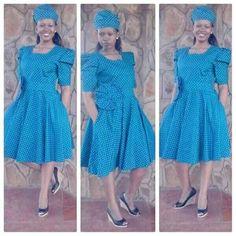 izishweshwe designs ideas for 2018 - style you 7 Shweshwe Dresses, Church Attire, Summer Colors, African Dress, African Fashion, Dress Skirt, Dressing, Colours, Lady