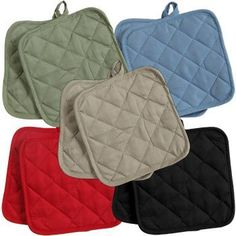 5 (FIVE) Sets of The Home Store Cotton Pot Holders, 2-ct. Color Variety Pack Kitchen Cooking Chef Linens Greenbrier International, Inc. http://www.amazon.com/dp/B00H1UOBFW/ref=cm_sw_r_pi_dp_oKfBub1EAMDGW